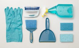 WeWrite Cleaning Blue Knolling Flatlay 4460x4460